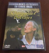 JANE GOODALL PRESENTA CHIMPANCES SALVAJES - 78 MIN DVD MULTIZONA 1-6 NEW SEALED