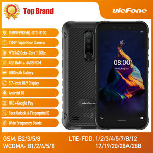 Ulefone Armor X8 Rugged Smartphone Unlocked OctaCore Android 10 4G Cell Phone