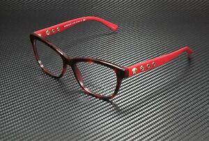 VERSACE VE3225 5184 Havana Bordeaux Demo Lens 54 mm Women's Eyeglasses