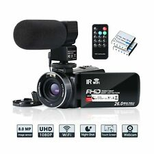 Video Camera Camcorder WiFi IR Night Vision FHD 1080P 30FPS YouTube Vlogging ...