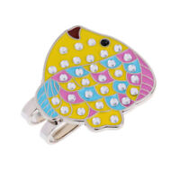 Funny Fish Alloy Magnetic Hat Clip with Golf Ball Marker Golfer Gift