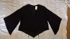 UNWORN Vintage Evans Black Floaty Sheer top Size 30 with tags. Cost £28