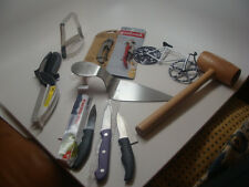 Lot of 10 Mixed Kitchen Tools and Gadgets: Knives, Cutter, Bottle Opener, etc