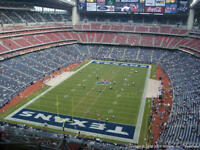 Houston Texans vs the Indianapolis Colts, Sec 619, Row H, 4 seats 11/21/2019