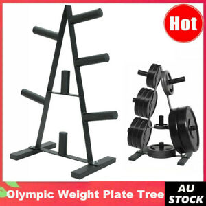 """Olympic 2"""" Weight Plate Storage Rack - Home Gym Weight Plate Tree - Store 180kg"""