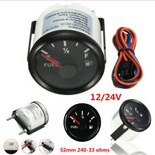 Universal 52mm 240-33Ohms Car Boat Fuel Gauge Analogue Gas Level Indicator Meter