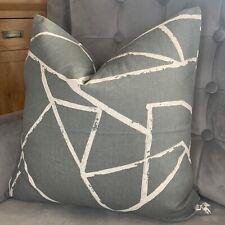 "John Lewis & Partners ""CRAKLE"" Fabric Cushion Pillow Cover 18"" Modern Decor Grey"