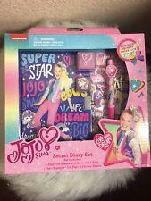 New JoJo Siwa/ Secret Diary Set with Lock and Keys Pen Stamp Pad Journal Set .