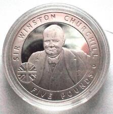 Silver 925 1oz Five Pound Coin 2006 Bailiwick of Jersey Sir Winston Churchhill