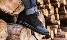 NIKE LUNAR FORCE 1 DUCKBOOT '18 HIGH-TOP TRAINERS, UK9, TRIPLE BLACK, BQ7930003