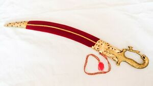 Ceremonial sword indian wedding sword 24 inch indian talwar with lion hilt