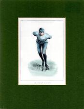 MOUNTED PRINT-  SPEED SKATING CHAMPION JOE DONOGHUE (1871-1921) - ORIGIN UNKNOWN