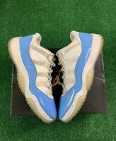 Nike Air Jordan 11 Retro Low 'UNC' Men's Size 10.5 White/Blue 528895-106