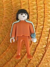 Playmobil Geobra 1974 Orange Figure with Cape And Watch Vintage Toy Boy