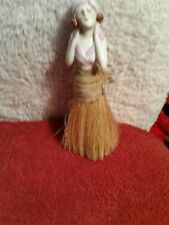 Antique German Porcelain Half Doll Lady Figurine Whisk Broom Vanity Brush 7