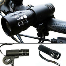 240 lm cree Q5 Ciclismo Bicicleta Bici Luz Frontal de LED antorcha lámpara larm cabeza + Montaje