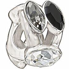 Authentic NEW Chamilia Splendid Marquis Black & White Swarovski Bead 2083-0458
