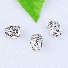 Tibetan silver Buddha Head Loose Beads DIY Bracelet Necklace Jewelry Findings
