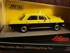 Schuco 1:64 Mercedes-Benz 200D Hong Kong Taxi NMIB Yellow & Black Nice