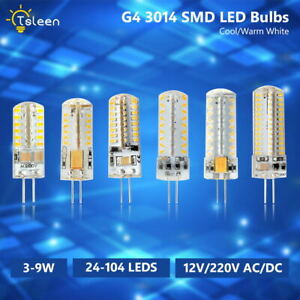 G4 LED Crystal Corn Bulbs 3014 SMD Silicone Lamp 12V DC 12V AC/DC 220 AC 3/5/9W
