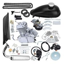 Silver 80cc 2 Stroke Bicycle Engine Kit Gas Motorized Bike Motor