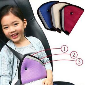 Child Safety Car Seat Belt Shoulder Harness Adjuster Pad Strap Cover Clip Kids
