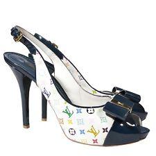 Louis Vuitton Peep Toe Plateau Slingbacks Multicolor, Gr. 38,5 Neupreis ca.€790
