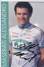 CYCLISME repro PHOTO cycliste ALESSANDRO MASERATI équipe LPR signée