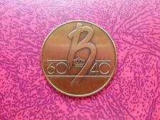 Médaille bronze Baudouin 60-40