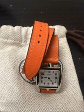 Genuine HERMES CAPE COD PM  Watch Orange Large Size Bracelet Band CC2.710