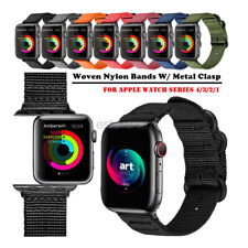 Woven Nylon Watch Band Strap Belt For Apple Watch Series 5 4 3 iWatch 44/42/40mm