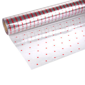 Red Dot Clear Cellophane Wrapping Gift Paper Easter Birthday Hampers Wrap