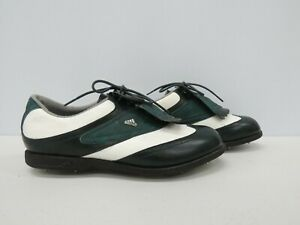 Adidas Golf Shoes Green/White EVN 791 UK 8 very good used condition