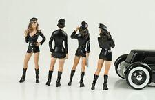 Sexy GIRL SET POLICE POLIZIA 4 figurines personaggio Hot 1:18 figures American Diorama