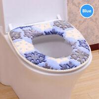 Bathroom Toilet Seat Closestool Washable Soft Warmer Mat Cover Pad Cushion Cover