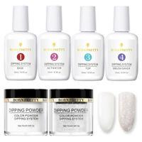 6Pcs/Set BORN PRETTY Dipping Powder Nail System Liquid White Glitter Starter Kit