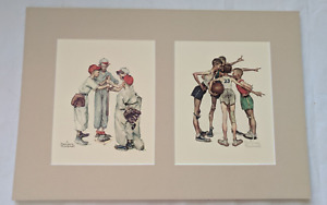 "Double Norman Rockwell ""Choosin' Up"" Baseball and ""Oh, Yeah!"" Basketball Print"