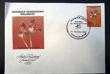 MADAGASCAR  AERIEN 188    PREMIER JOUR FDC     FLORE GRAMMANGIS    50 FMG   1984