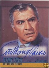 STAR TREK THE ORIGINAL SERIES SEASON 2 A52 ANTHONY CARUSO BELA OXMYX AUTOGRAPH