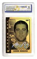 AARON RODGERS Laser Line Gold Card Graded GEM MINT 10 Hologram Signature *BOGO*
