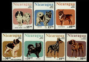 Dogs by Nicaragua MNH Sc 1632-38