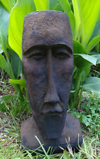 #9 - TIKI GOD FOUNTAIN MOAI EASTER ISLAND HEAD CONCRETE/CEMENT GARDEN STATUE