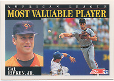 1992 Score 'AL 1991 Most Valuable Player # 788 - CAL RIPKEN, JR