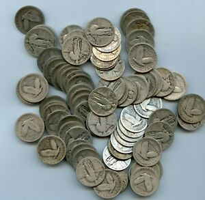 2 Rolls of (80) Standing liberty Quarters ALL/AMOST ALL DATES VISABLE .