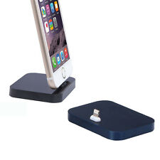 Black Aluminum Alloy Lightning Dock Base Socle Charging Cradle Station - iPhone