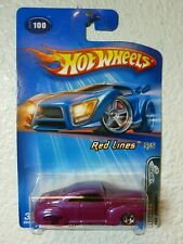 Pearl Magneta / Malaysia Base 2005 Red Lines Series Hot Wheels TAIL DRAGGER #100