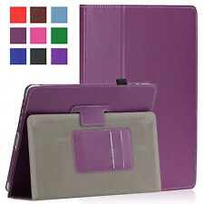 Magnetic iPad 1 1st Generation Leather Case Cover with Build in Stand Purple #2