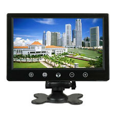 9 Inch 16:9 HD Color TFT LCD 2 Video Input Headrest DVD VCR Car Rearview Monitor