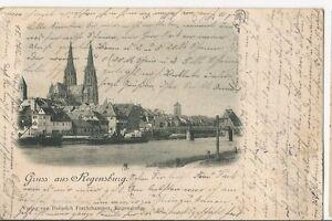 MAGMA Ansichtskarte Regensburg 1899 Forchthammer Gruss aus  gute Erhaltung