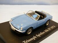 ATLAS 1:43 Blue 1974 Triumph Spitfire MK4 IV Diecast Sports Car Toy Diorama